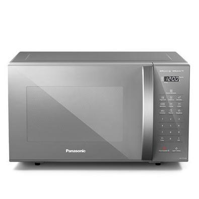 Micro-ondas De Mesa Panasonic Com 27 Litros De Capacidade Prata - Nn-st55lmrun - 220v
