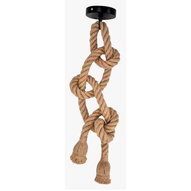 Lustre Pendente Corda Para 2 Lâmpadas E27 Bivolt