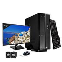 Mini Computador ICC SL2381Cm15 Intel Core I3 8gb HD 500GB DVDRW Kit Multimídia Monitor 15