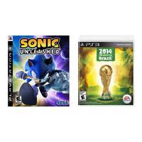Kit Jogos Sonic Unleashed E Copa Mundo Da Fifa 2014 Ps3