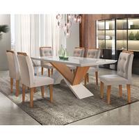 Conjunto Sala de Jantar com Mesa Yasmin 180cm e 6 Cadeiras Carol Rufato
