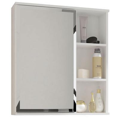 Espelho P/ Banheiro com 1 Porta e 1 Prateleira Treviso, Branco