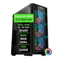 Computador Gamer Fácil  Intel Core i5 10400f, 16GB, GTX 1650 4GB, SSD 240GB, Fonte 500W