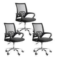 Conjunto Bela Com 3 Cadeiras Diretor Madri Tela Para Sala De Reunião