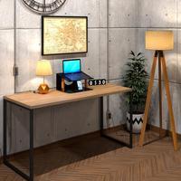 Mesa Para Escritório Diretor Estilo Industrial  Vintage   Tam: 150x60 cor: Lamina Dourada