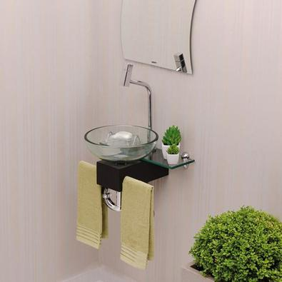 Gabinete Para Banheiro De Vidro Franklin Astra Gp-f Transparente