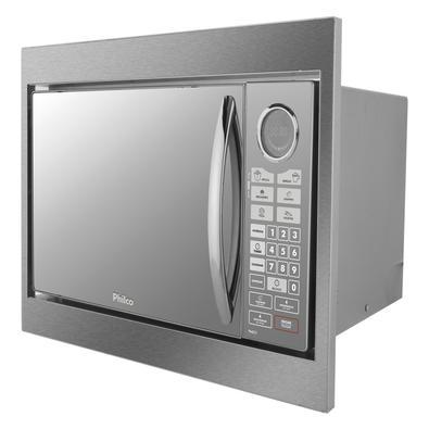 Microondas De Embutir Philco 30 Litros Pme31bm Prata Espelhado 220v
