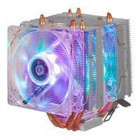 Cooler, Fan Duplo, Gamer, 6 Leds, Argb, Pata, Cpu Universal, para Processador, Intel e Amd - Dex - Dx-9206w