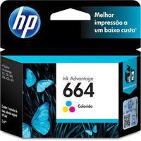 Cartucho HP 664 Colorido Deskjet Ink Advantage 1115 2136