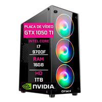 Computador Gamer Fácil, Intel Core I7 9700f, 16gb Ddr4, 2666 Mhz, Geforce Gtxti 1050 4gb, Hd 1tb, Fonte 500w