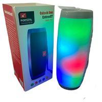 Caixa De Som Bluetooth Portátil Com Led Xtrad Entrada USB Xdg-157 Cinza