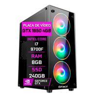 Pc Gamer Fácil, Intel Core I7 9700f, 8gb ,Geforce Gtx 1650 4gb, Ddr4, Ssd 240gb, Fonte 500w