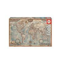 Puzzle 1000 Peças Miniatura Mapa Do Mundo - Educa - Imp