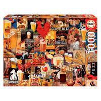 Puzzle 1000 Peças Colagem De Cervejas Vintage - Educa Imp