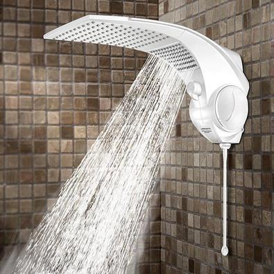 Chuveiro Duo Shower Quadrado Eletrônico Branco Lorenzetti