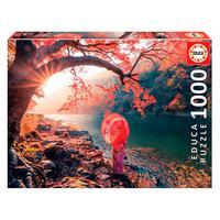 Puzzle 1000 Peças Amanhecer No Rio Katsura Japão - Educa Imp Puzzle 1000 Peças Amanhecer No Rio Katsura Educa