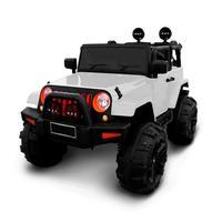 Mini Carro Eletrico 12v Jeep Branco Com Controle Bw028br Infanti Importway