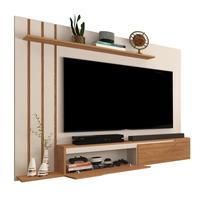 Painel Para Tv Até 60 Polegadas Classic - Off White Com Nature - Rpm Móveis