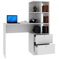 Mesa Para Computador Home Office 1 Gaveta Com Estante Branco