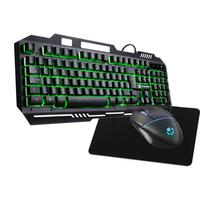Kit Gamer Shield  Teclado Semi Mecanico Verde+ Mouse 2400dpi + Mp