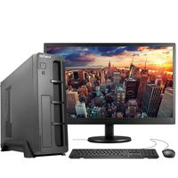 "Computador Completo Fácil Slim Intel 4GB, SSD 120GB, c/ Monitor 15"" HDMI Led, Teclado e Mouse"