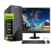"""Computador Completo Fácil Intel Core I5 10400f (décima Geração) 4gb Ddr4 Geforce Nvidia 1gb Hd 500gb Monitor 19"""" Hdmi"""