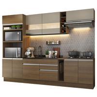 Cozinha Completa Madesa Vicenza com Armário e Balcão Rustic/Bronze Cor:Rustic/Bronze