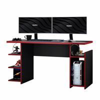 Mesa Para Computador / Gamer Mx Vermelho Com 5 Prateleiras E Gancho Para Headset