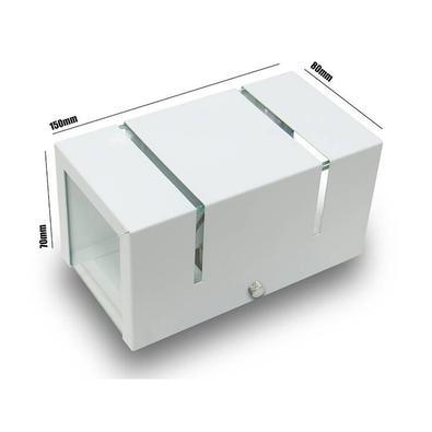 Arandela 2 Fachos E Frisos Externa E Interna Branca Kit 06 Unidades