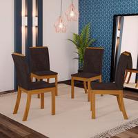 Conjunto De 4 Cadeiras Sala De Jantar Kesha Casa 812