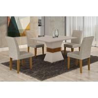 Sala De Jantar Lucy Com 4 Cadeiras Grécia Rufato