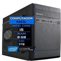 Computador Fácil Intel Core I5, 8GB, HD 1TB
