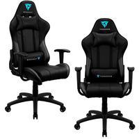 Kit 02 Cadeiras Gamer Office Giratória Com Elevação A Gás Ec3 Preto - Thunderx3