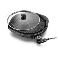 Panela Grill Gourmet 127V 1200W Grelha Antiaderente Preto Multilaser - CE053