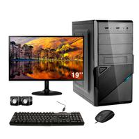 Computador Completo Corporate I3 4gb 120gb Ssd Dvdw Windows 10 Monitor 19