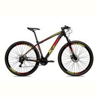 """Bicicleta Alumínio Aro 29 Ksw Shimano Tz 24 Vel Ltx Krw20, Preto/amarelo e Vermelho - 19"""""""