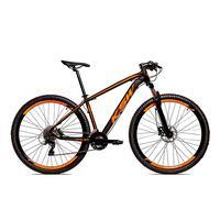 Bicicleta Alumínio Ksw Shimano Altus 24 Vel Freio Hidráulico E Cassete Krw19 - 15.5'' - Preto/laranja Fosco