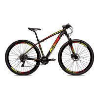 Bicicleta Alum 29 Ksw Cambios Gta 27 Vel Freio Disco Hidráulica E Trava - Preto/amarelo E Vermelho - 15.5''