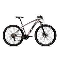 Bicicleta Alumínio Ksw Shimano Altus 24 Vel Freio Hidráulico E Suspensão Com Trava Krw18 - 15.5´´ - Prata/preto
