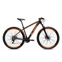 Bicicleta Alum 29 Ksw Cambios Gta 24 Vel A Disco Ltx - 17´´ - Preto/laranja Fosco