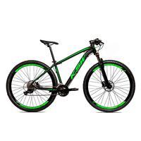 Bicicleta Alum 29 Ksw Shimano 27v A Disco Hidráulica Krw14 - 15.5´´ - Preto/verde Fosco