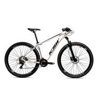 Bicicleta Alumínio Ksw Shimano Altus 24 Vel Freio Hidráulico E Cassete Krw19 - 17´´ - Branco/preto