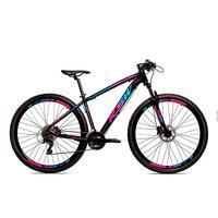 Bicicleta Alum 29 Ksw Cambios Gta 24 Vel A Disco Ltx Hidráulica - Preto/azul E Rosa - 19´´