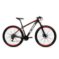 Bicicleta Alum 29 Ksw Shimano 27v A Disco Hidráulica Krw14 - 21´´ - Preto/vermelho