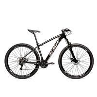 Bicicleta Alumínio Aro 29 Ksw Shimano Tz 24 Vel Ltx Krw20 - 15.5'' - Preto/prata