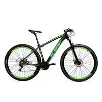 Bicicleta Alumínio Aro 29 Ksw 24 Velocidades Freio A Disco Krw16 - 17'' - Preto/verde Fosco