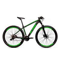 Bicicleta Alum 29 Ksw Cambios Gta 24 Vel A Disco Ltx Hidráulica - 15.5´´ - Preto/verde Fosco