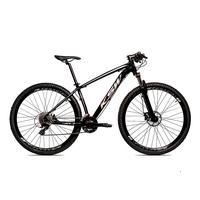 Bicicleta Alumínio Ksw Shimano Altus 24 Vel Freio Hidráulico E Suspensão Com Trava Krw18 - 15.5'' - Preto/prata