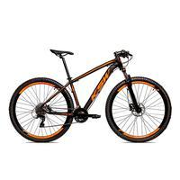 Bicicleta Alumínio Ksw Shimano Altus 24 Vel Freio Hidráulico E Suspensão Com Trava Krw18 - 17´´ - Preto/laranja Fosco