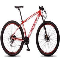 Bicicleta Aro 29 Dropp Rs1 Pro 24v Acera Freio Hidra E Trava - Vermelho/branco - 19